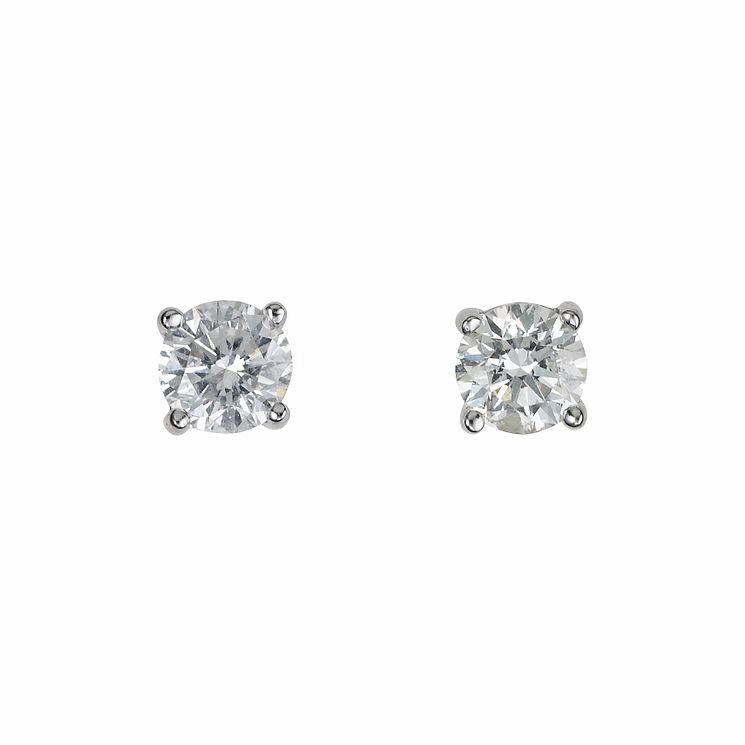 18ct white gold 0.50ct diamond solitaire earrings - Product number 5778247