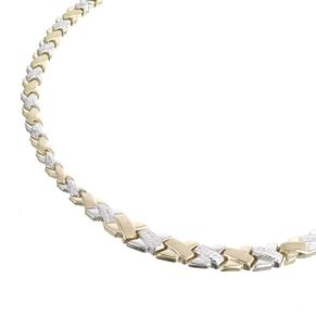 9ct Two Colour Gold Collar Necklace - Product number 5812488
