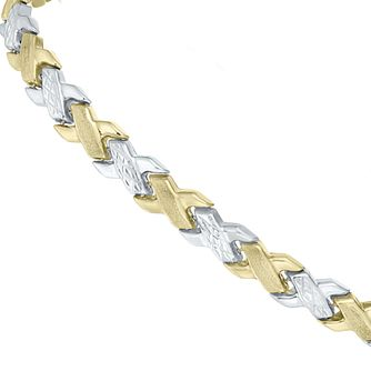 9ct Two-colour Gold Bracelet - Product number 5812674