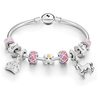 Chamilia Sterling Silver Fairy tale Bracelet & Charms Set - Product number 5821983