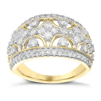 9ct Gold 1 Carat Diamond Wide Eternity Ring - Product number 5828856