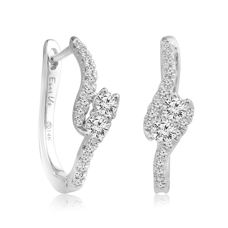 Ever Us 14ct White Gold 0.40ct Diamond Earrings - Product number 5829127