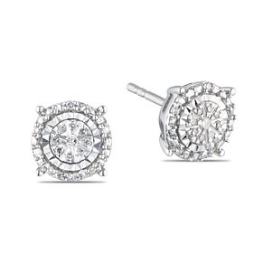 9ct White Gold Diamond Stud Earrings - Product number 5832888