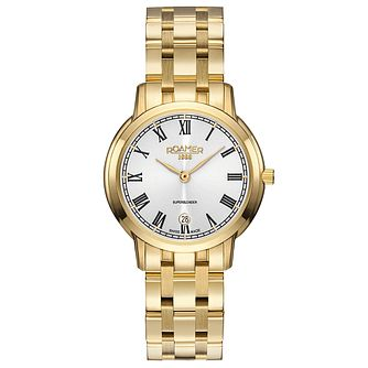 Roamer Super Slender Ladies' Gold-Plated Bracelet Watch - Product number 5836204