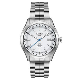 Roamer Men's White Dial Stainless Steel Bracelet Watch - Product number 5837472