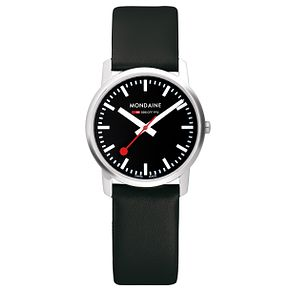 Mondaine SBB Simply Elegant Ladies' Leather Strap Watch - Product number 5837510