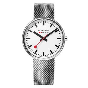 Mondaine SBB Mini Giant Ladies' Mesh Bracelet Watch - Product number 5837650
