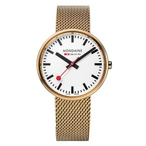 Mondaine SBB Mini Giant Ladies' Gold-Plated Bracelet Watch - Product number 5837669