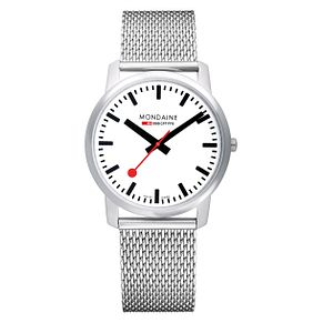 Mondaine SBB Simply Elegant Men's Mesh Bracelet Watch - Product number 5837774