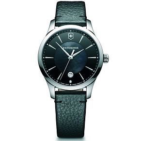 Victorinox Alliance Small Ladies' Black Leather Strap Watch - Product number 5838096