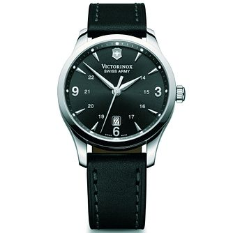 Victorinox Alliance Mechanical Men's Black Strap Watch - Product number 5838118
