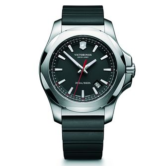 Victorinox I.N.O.X. Men's Black Rubber Strap Watch - Product number 5838282