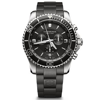Victorinox Maverick Chronograph Men's Black Strap Watch - Product number 5838320