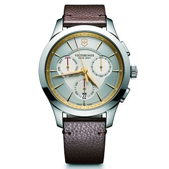Victorinox Alliance Chronograph Men's Brown Strap Watch - Product number 5838517