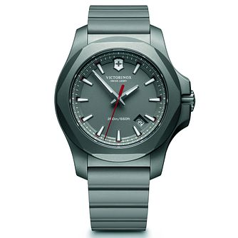 Victorinox I.N.O.X. Titanium Men's Grey Rubber Strap Watch - Product number 5838525