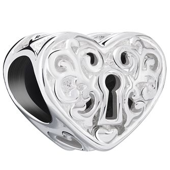 Chamilia Sterling Silver Key Hole Heart Bead - Product number 5845327