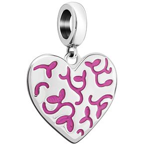 Chamilia Floral Engraved Heart Charm - Product number 5845734
