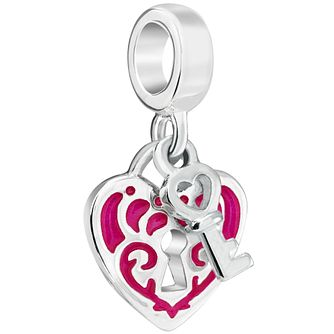 Chamilia Lock and Key Fuchsia Enamel Charm - Product number 5845769