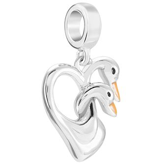 Chamilia Sterling Silver Swans Charm Bead - Product number 5845793