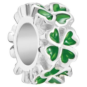Chamilia Petite Clover Charm with Green Enamel - Product number 5845807