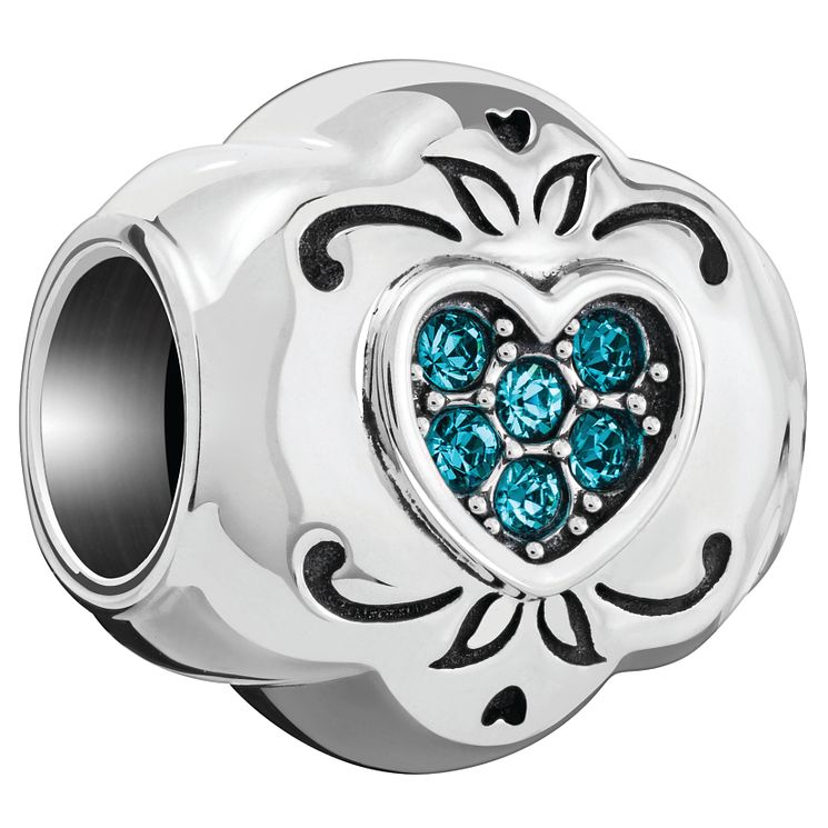 Chamilia Love Heart Blue Swarovski Bead - Product number 5845912