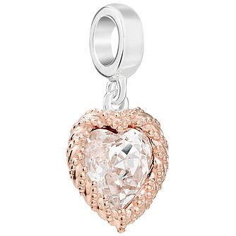 Chamilia Rose Gold Plated Crystal Heart - Product number 5846129
