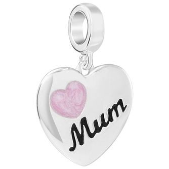 Chamilia Sweetness Mum Heart Charm with Swarovski Crystal - Product number 5846536