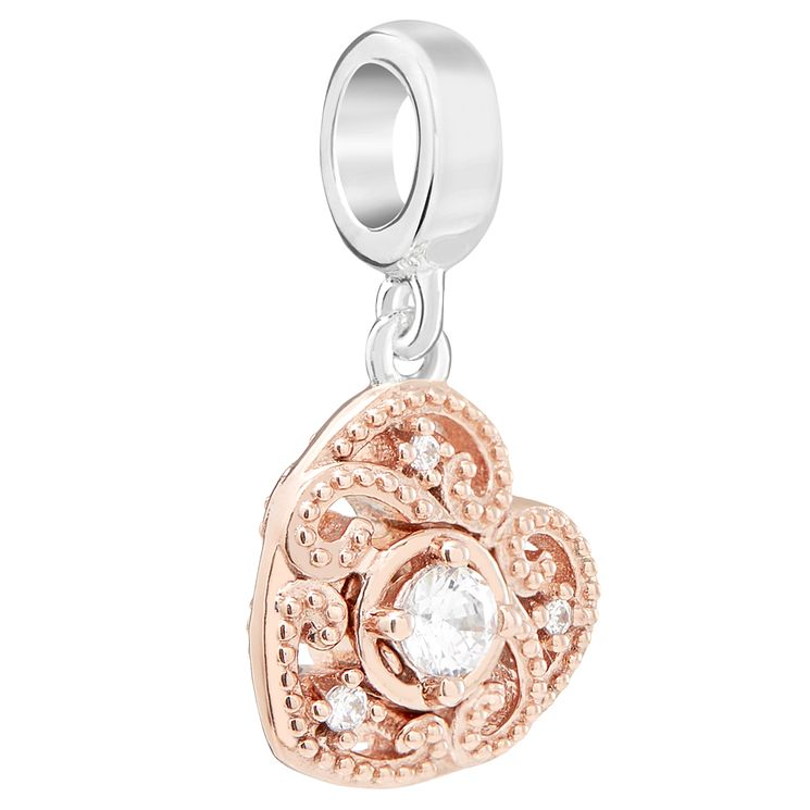 Chamilia Rose Gold Electroplate Swirling Heart Charm - Product number 5853788