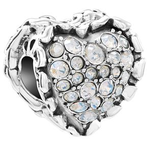 Chamilia Sterling Silver Ruffled Heart Moonlight Bead - Product number 5854008
