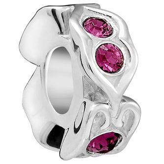 Chamilia Sterling Silver Fuschia Spacer Bead - Product number 5854091