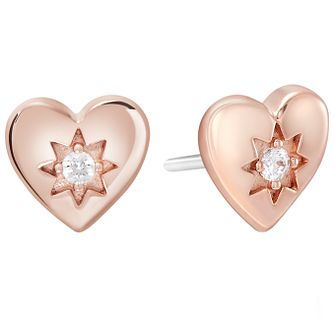 Chamilia Rose Gold Electroplate Cupid's Heart Earrings - Product number 5854229