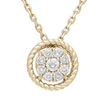 Neil Lane 14ct Yellow Gold 18pt diamond cluster pendant - Product number 5855012