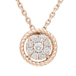 Neil Lane 14ct Rose Gold 18pt diamond cluster pendant - Product number 5855020
