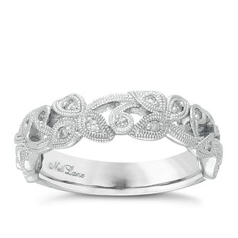 Neil Lane Designs 14ct White Gold 0.11ct diamond vine band - Product number 5855861