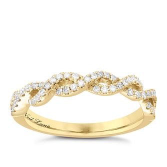 Neil Lane Designs 14ct Yellow Gold 0.25ct diamond twist band - Product number 5856264