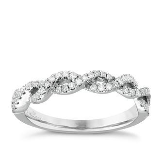 Neil Lane Designs platinum 0.25ct diamond twist band - Product number 5856523