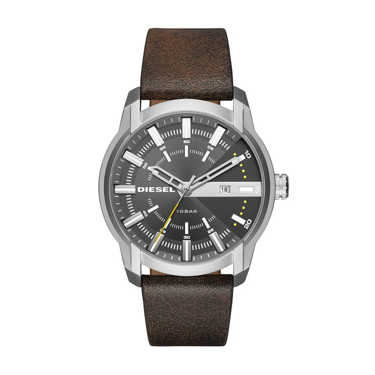 Diesel Gent's Brown Leather Strap Watch - Product number 5861896