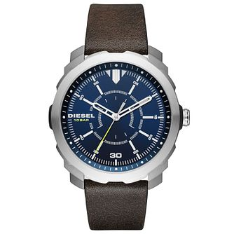 Diesel Gent's Brown Leather Strap Watch - Product number 5861918