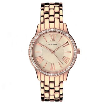 Sekonda Ladies' Rose Gold Plated Bracelet Watch - Product number 5865816