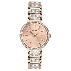 Seksy Ladies' Rose Gold-Plated Bracelet Watch - Product number 5866049