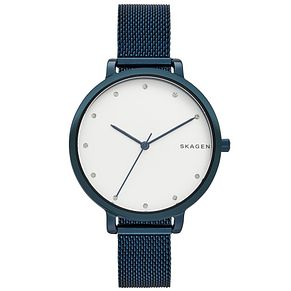 Skagen Ladies' Blue Mesh Strap Watch - Product number 5866138