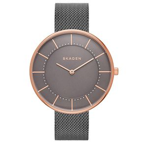 Skagen Ladies' Brown Stainless Steel Mesh Strap Watch - Product number 5866154