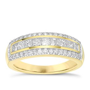 18ct Yellow Gold 1ct Diamond Anniversary Ring - Product number 5869099