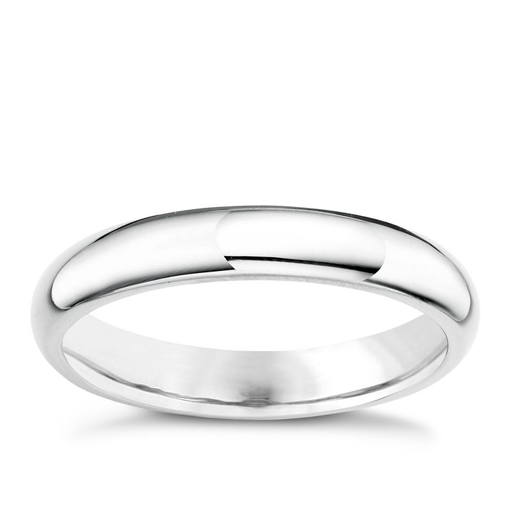 Palladium 950 4mm super heavy court ring - Product number 5883598