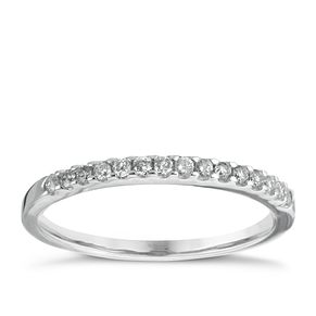 18ct White Gold 0.15ct Shaped Wedding Band - Product number 5884136