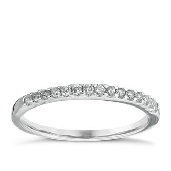 9ct White Gold 0.15ct Shaped Wedding Band - Product number 5884136
