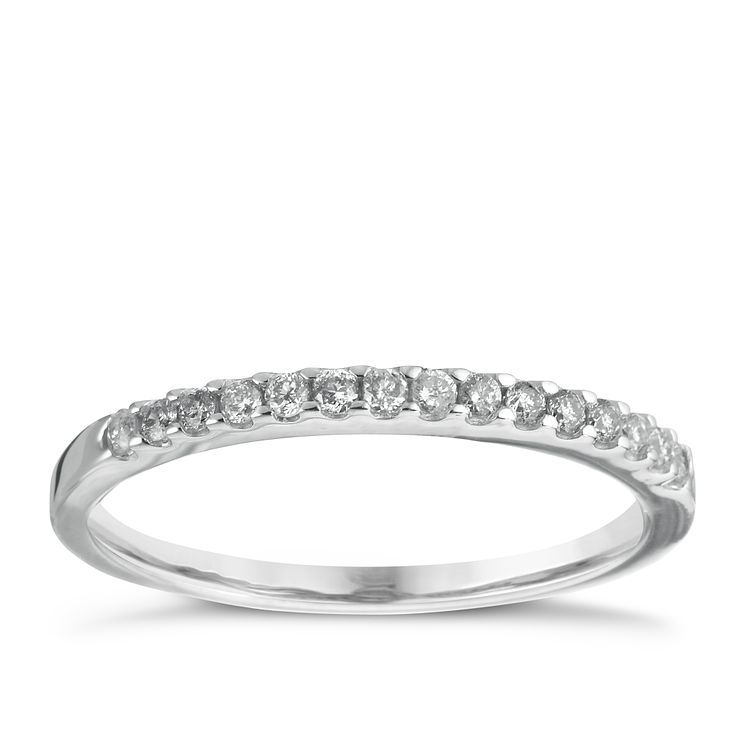 18ct white gold diamond wedding ring ernest jones