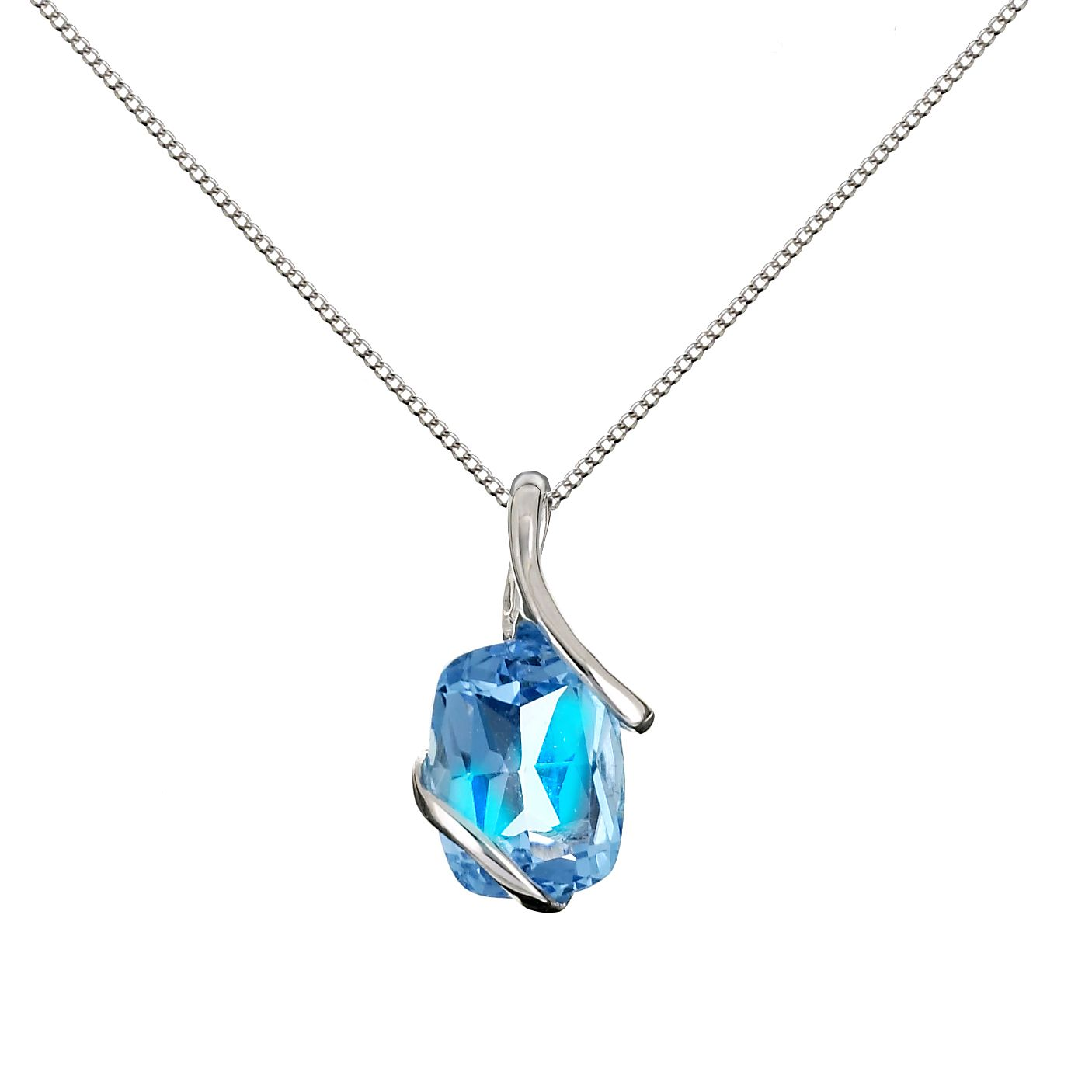 9ct white gold topaz pendant necklace hmuel exclusive 9ct white gold topaz pendant necklace mozeypictures Gallery