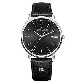Maurice Lacroix Eliros Men's Black Leather Strap Watch - Product number 5925886