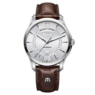 Maurice Lacroix Pontos Men's Stainless Steel Strap Watch - Product number 5925894